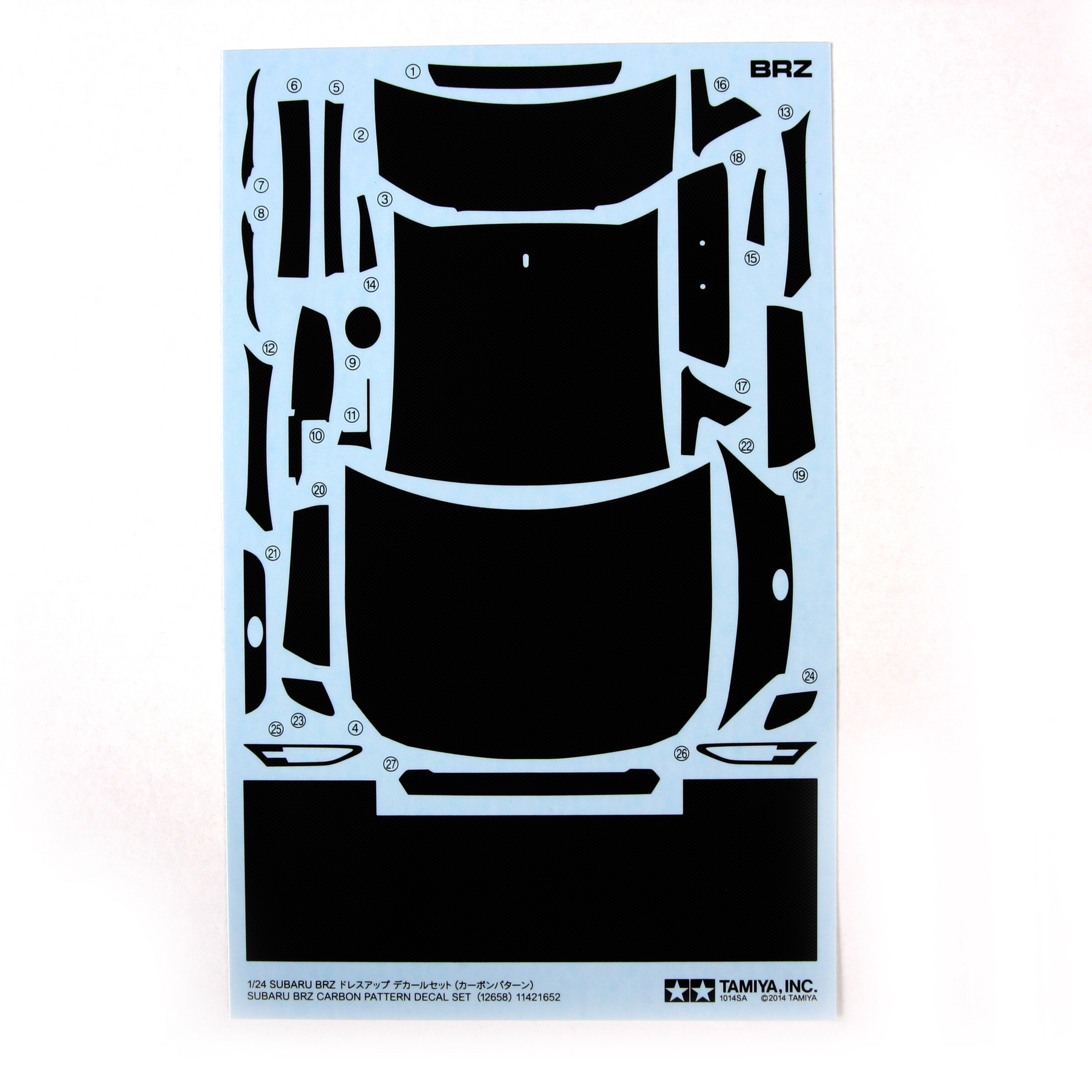 1/24 Subaru Brz Decal Set