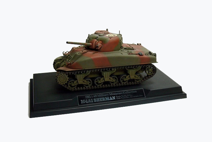 1/48 M4A1 Sherman Tank No.12