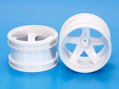 Rc Gf-01 White 5-Spoke Wheels